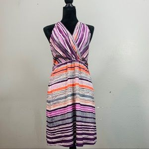 ATHLETA Striped Purple Halter Top Dress Size 8